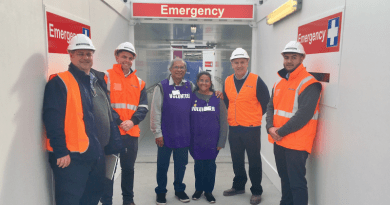 Staff and volunteers at the Emergency Department