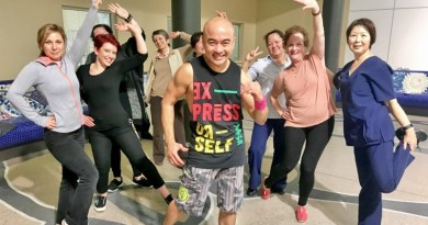 The team with ALL the moves at Zumba at Blacktown Hospital during the Wellbeing Festival.