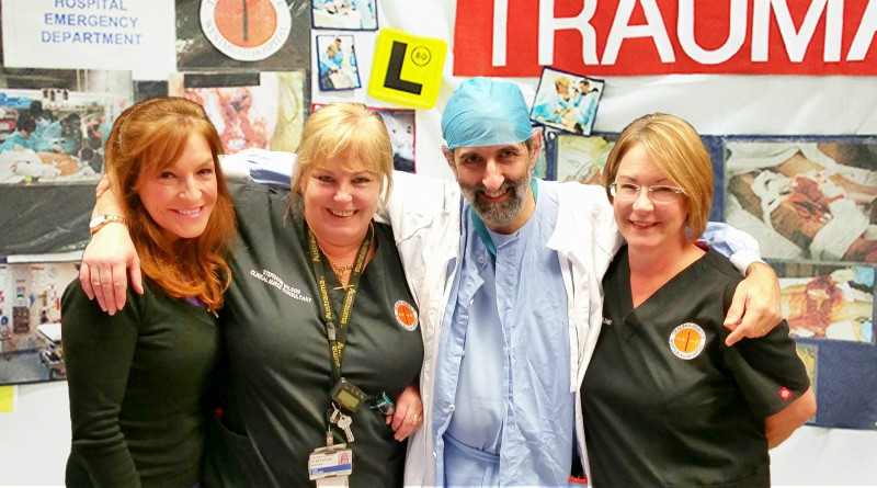 bstreetsmart events manager Chapin Ayres, co-founder and trauma nurse Stephanie Wilson, anaesthetist Dr Ken Harrison and co-founder and trauma nurse Julie Seggie.