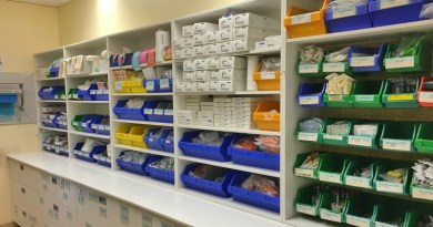 The B3a3 storeroom, ship-shape after being reorganised according to Lean 6S philosophy to reduce waste.
