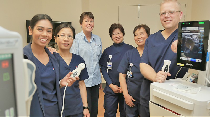 Westmead Hospital's after hours cannulation team is a finalist in this year's WSLHD Quality Awards. Pictured; Registered nurse Asmita Chand, registered nurse Shu Mei, clinical nurse consultant Fiona Stewart, clinical nurse specialist Irene Lo, clinical nurse specialist Rocela Munoz and registered nurse Anthony Marshall.