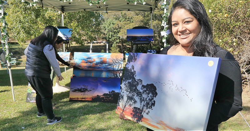 Registered nurse Raksha Darshini sold her pictures at the festival.
