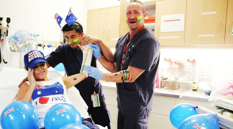 Emergency staff Australia Day photo