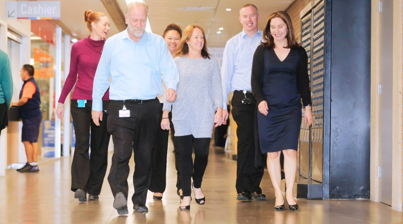 Risk Management staff step it out to prepare for Steptember.