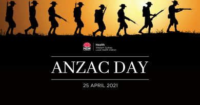 Western Sydney Local Health District to honour ANZAC Day 2021 with special ceremonies