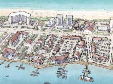 A conceptual rendering of a town center in Perdido Key along Perdido Key Drive and the Flora-Bama complex. (Special to the Pulse)
