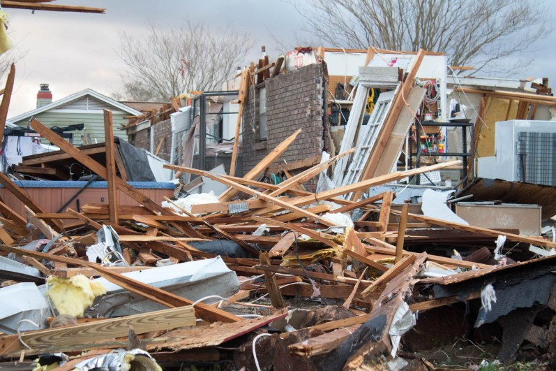 A severely damaged home in Pensacola's Northpointe neighborhood. (Derek Cosson/The Pulse)