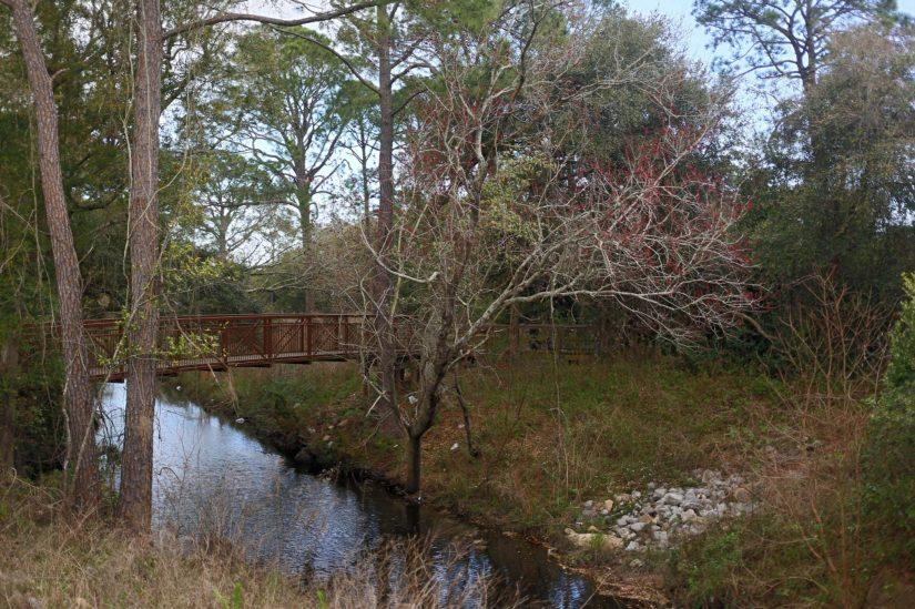 Jones Creek flows alongside the Southwest Greenway in Escambia County.