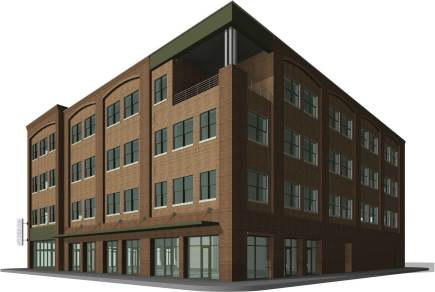 Southwest approach to the new Studer office building. (City of Pensacola/Special to The Pulse)