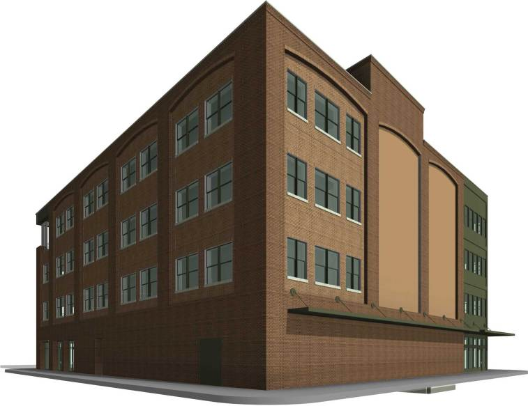 Southeast approach to the new Studer office building. (City of Pensacola/Special to The Pulse)