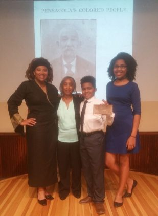 "The Transition Foundation with Pearl Perkins, Great-Granddaughter of John Sunday, Jr., ""The Richest African American Man in the South after their Black History Month presentation. (Eurydice/Stanley/Special to The Pulse)"
