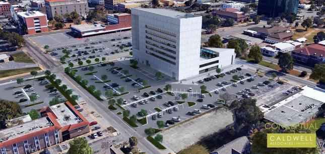 Conceptual plans for developer Quint Studer's planned renovations to the former SunTrust Tower in downtown Pensacola. (Studer Properties/Special to The Pulse)