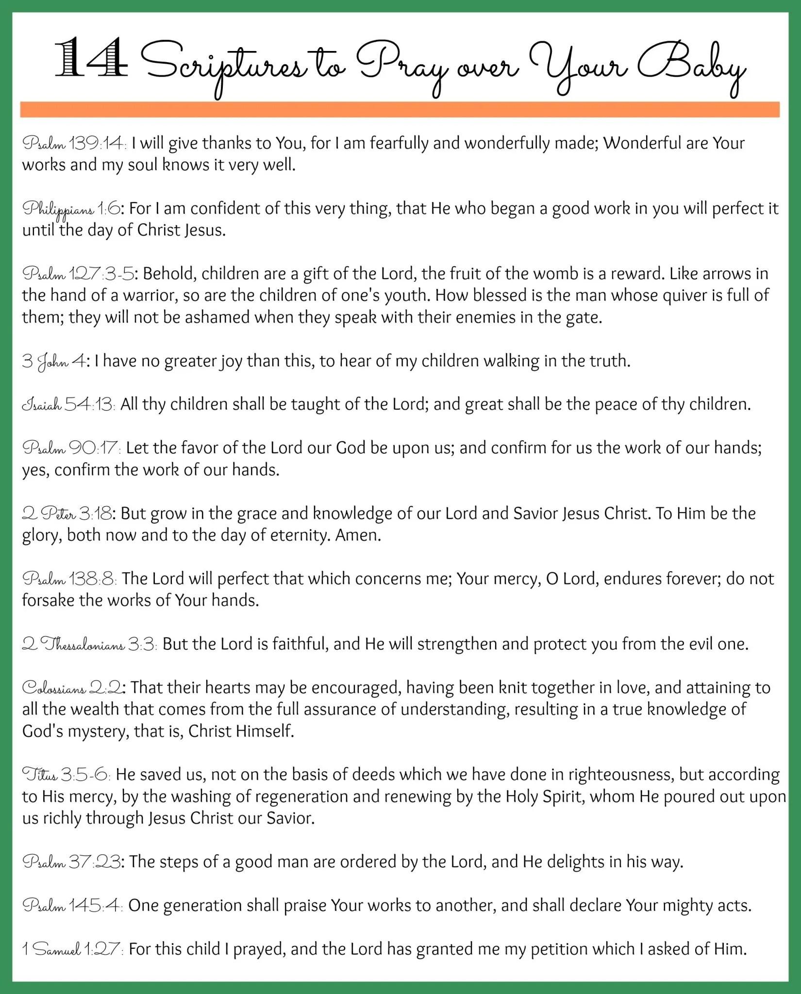 Scriptures Over Baby