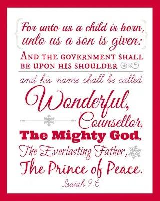 Printable Isaiah 96 Wall Art For Christmas The