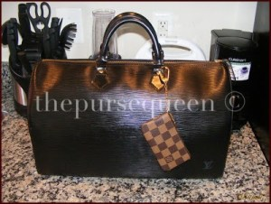 Louis Vuitton Epi leather speedy 40 black noir 1