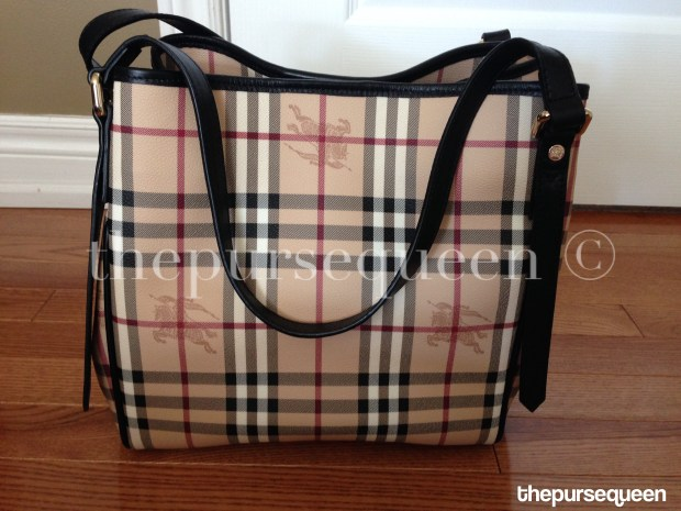 burberry tote haymarket replica authentic fake real closeup