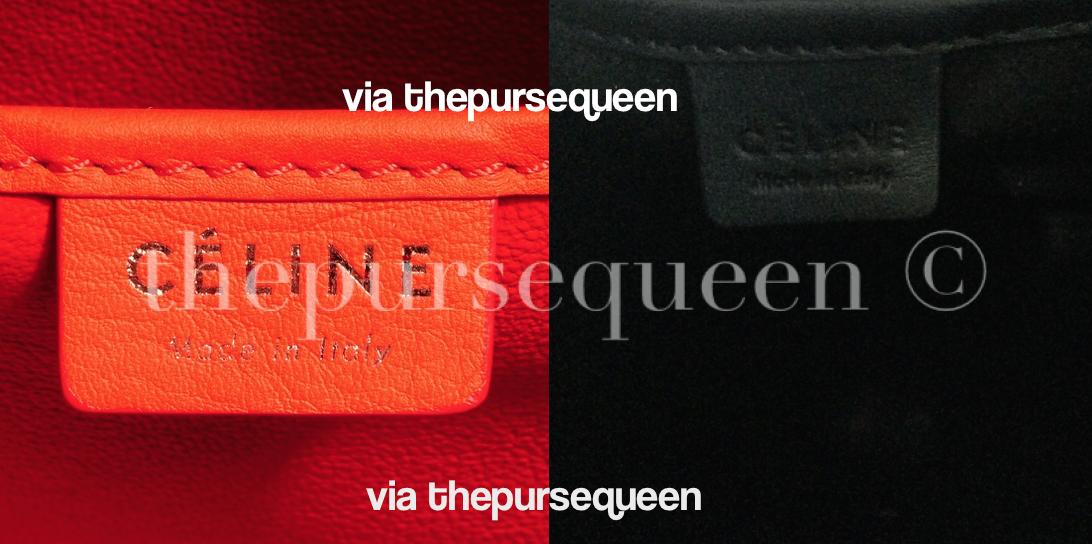 celine bag tag nano fake vs real authentic vs replica