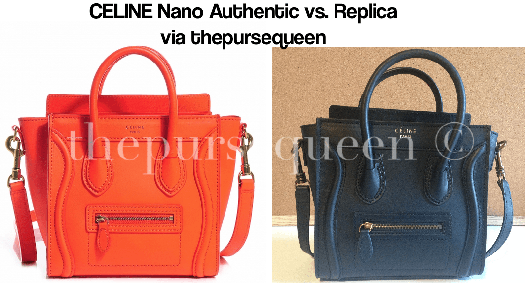 celine nano fake vs real authentic vs replica