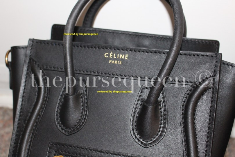 black celine nano luggage bag