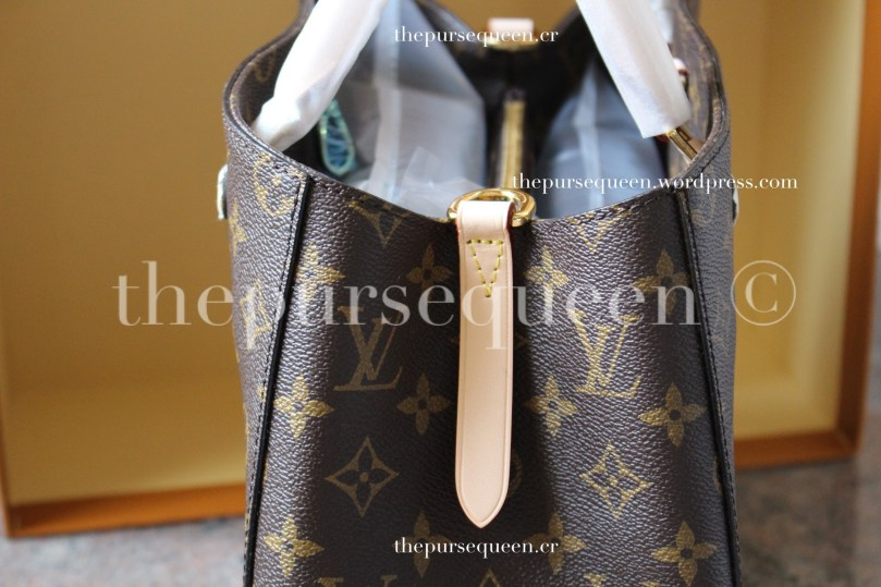 louis vuitton montaigne replica #replicabag #replicabags leather trimming closeup