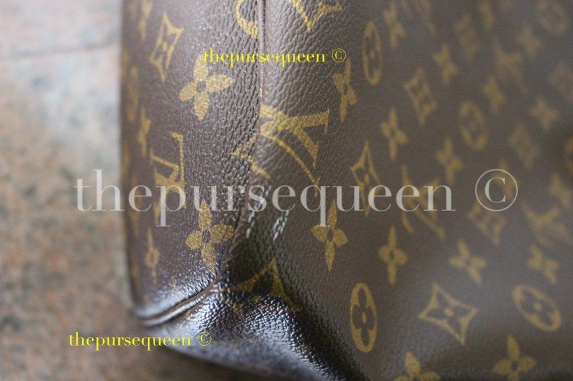 white marks on louis vuitton monogram canvas