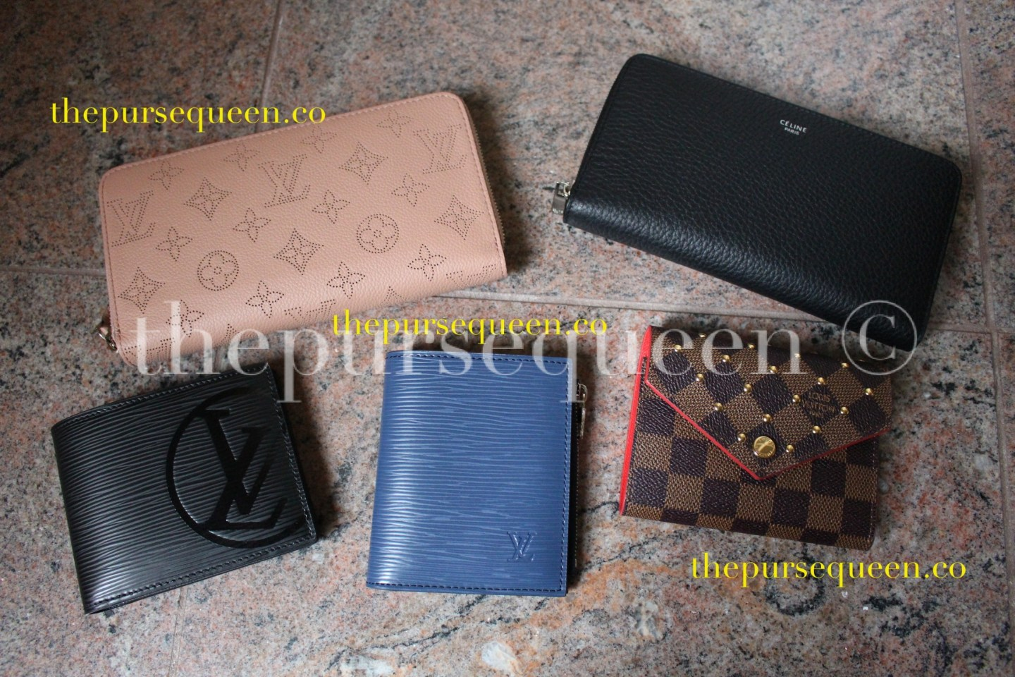Celine & Louis Vuitton Replica Wallet Collection #replicawallets #replicabags