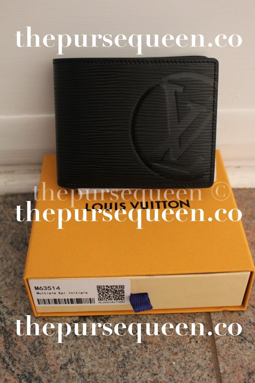 Louis Vuitton Multiple Epi Initials Replica Wallet Front View