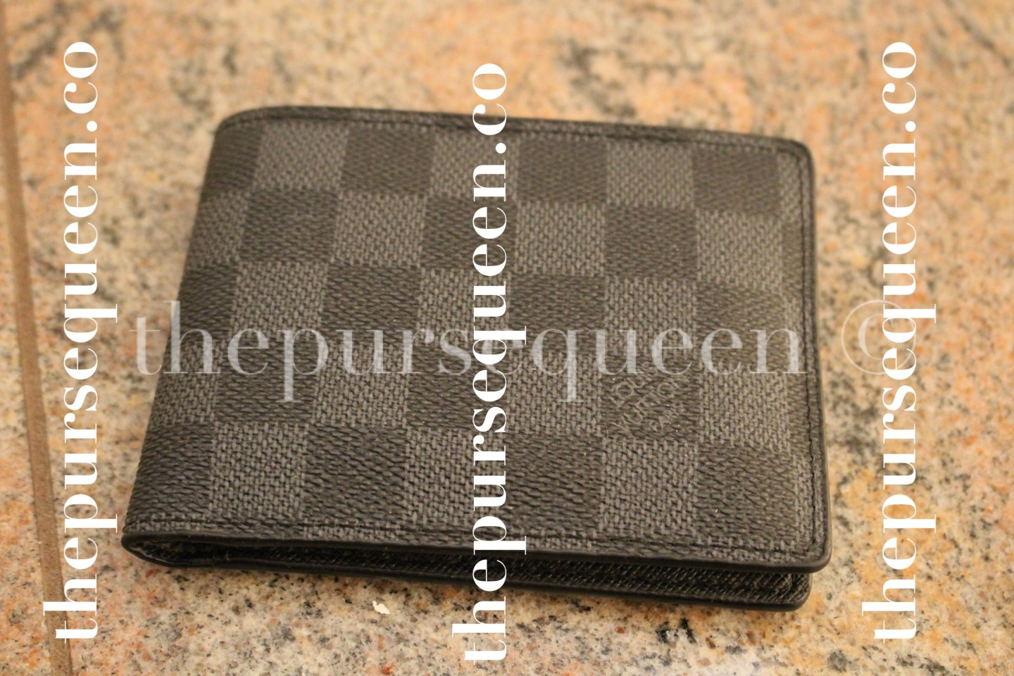 Louis Vuitton Damier Graphite Multiple Replica Wallet Front View