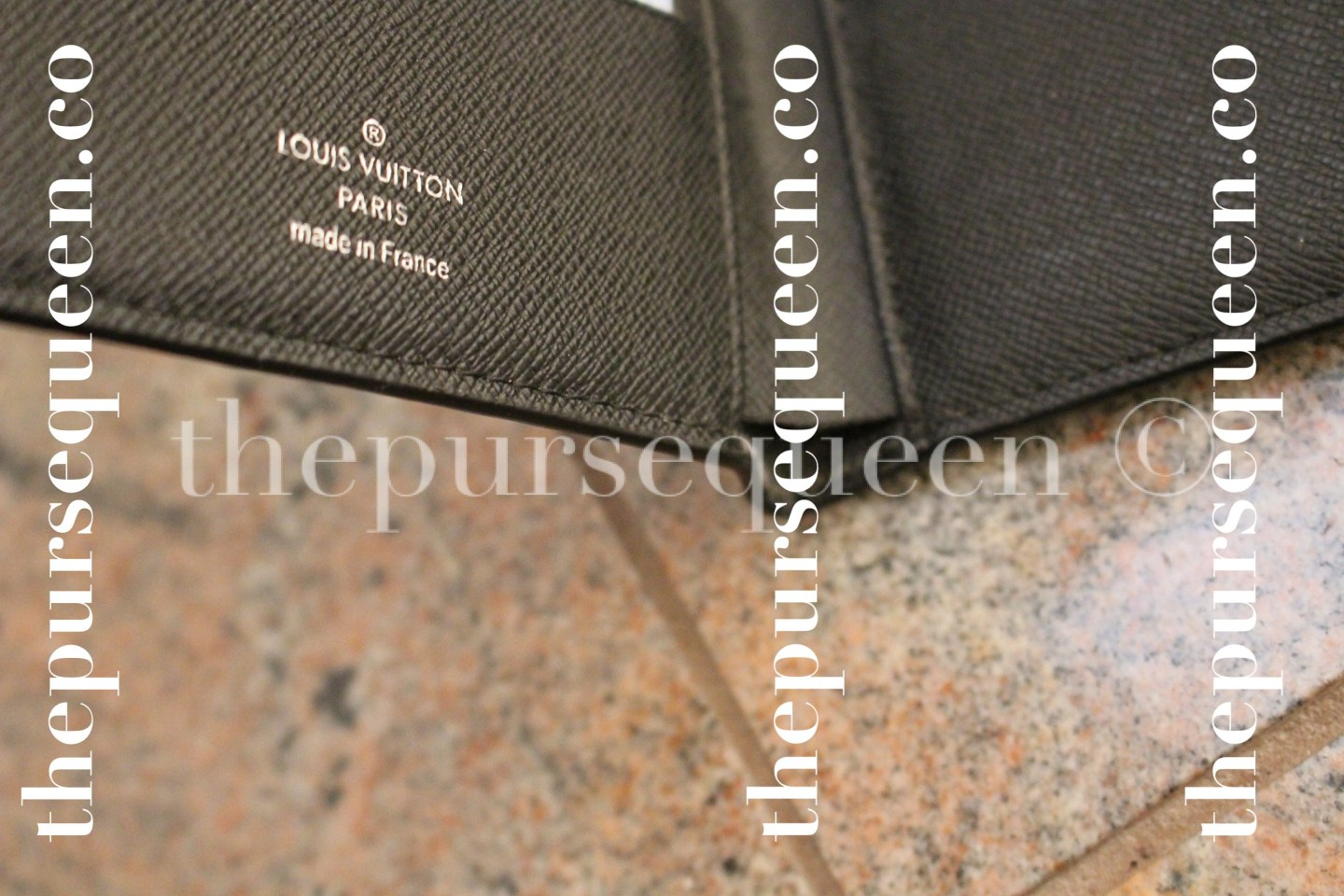 Louis Vuitton Damier Graphite Multiple Replica Wallet Interior Stamp