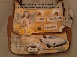 Altered purse by Jamie Howell. In memory of my grandmother, Clara Elizabeth Guider