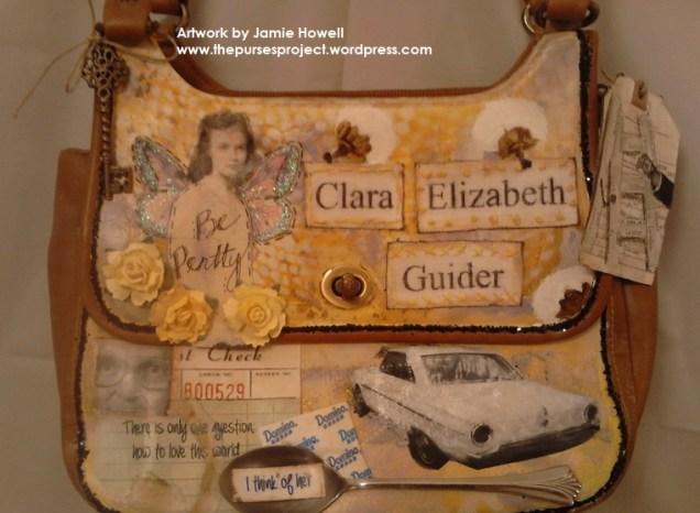 In memory of Clara Elizabeth Guider, purse created by Jamie Howell