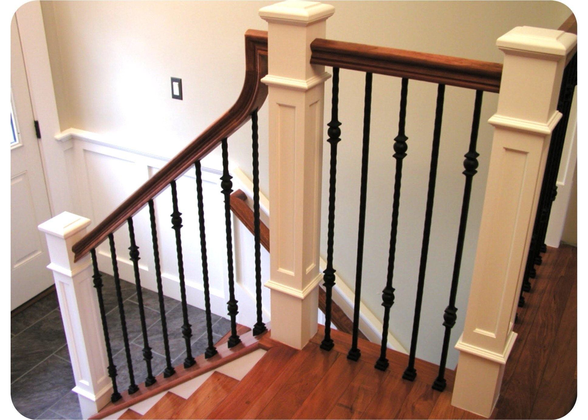Staircase Progress Pt 2   Craftsman Style Newel Post   Shaker   Construction   Colonial Elegance   Antique   1930 Style