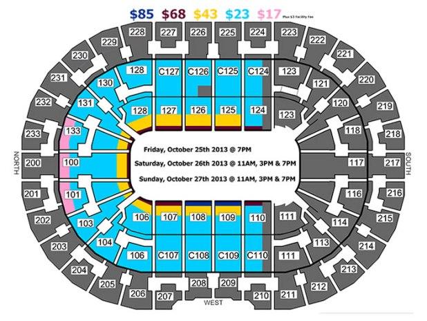 Quicken Loans Arena Seating Chart Wwe Raw | Brokeasshome.com