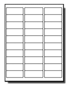 100 Sheets Laser/Inkjet Labels 1