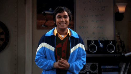 The Big Bang Theory astrophysicist Rajesh Koothrappali looks pleased as he talks about trans-Neptunian object 2008 NQ17