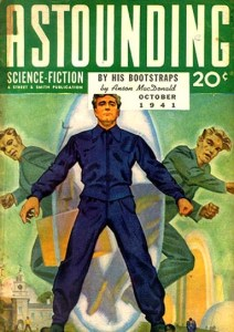 """By His Bootstraps"" by Robert A. Heinlein was originally published in the October 1941 issue of Astounding Science Fiction under the pen name Anson MacDonald."