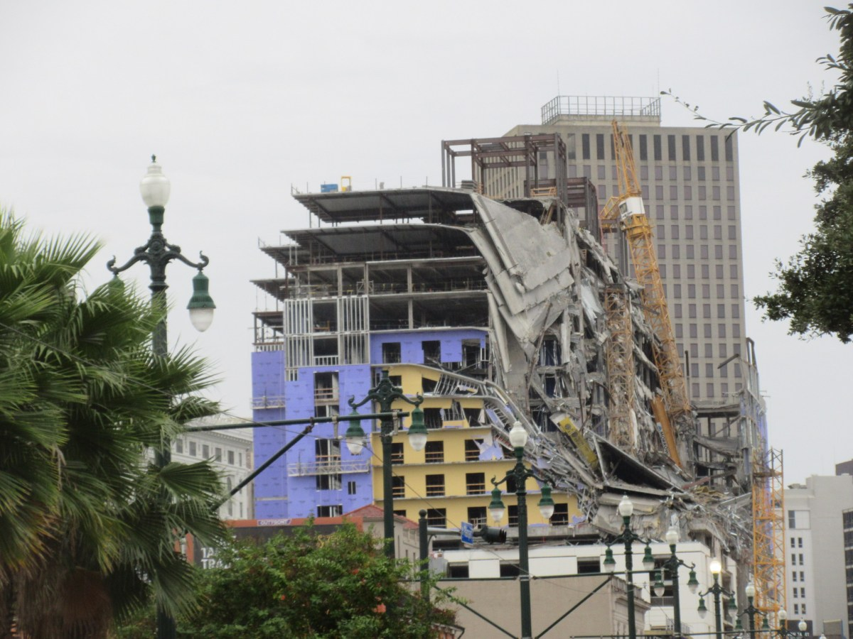 Crews demolish large portion of Hard Rock Hotel building