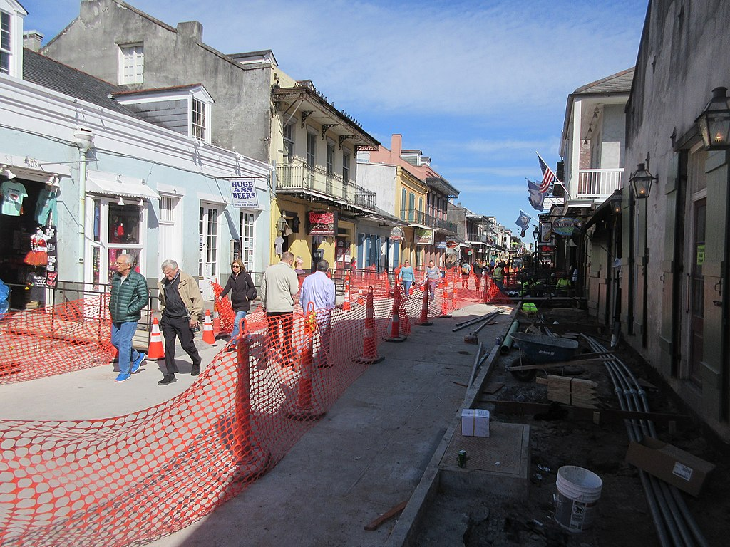600 block of Bourbon Street temporarily closed starting May 24 for 1 week of road construction