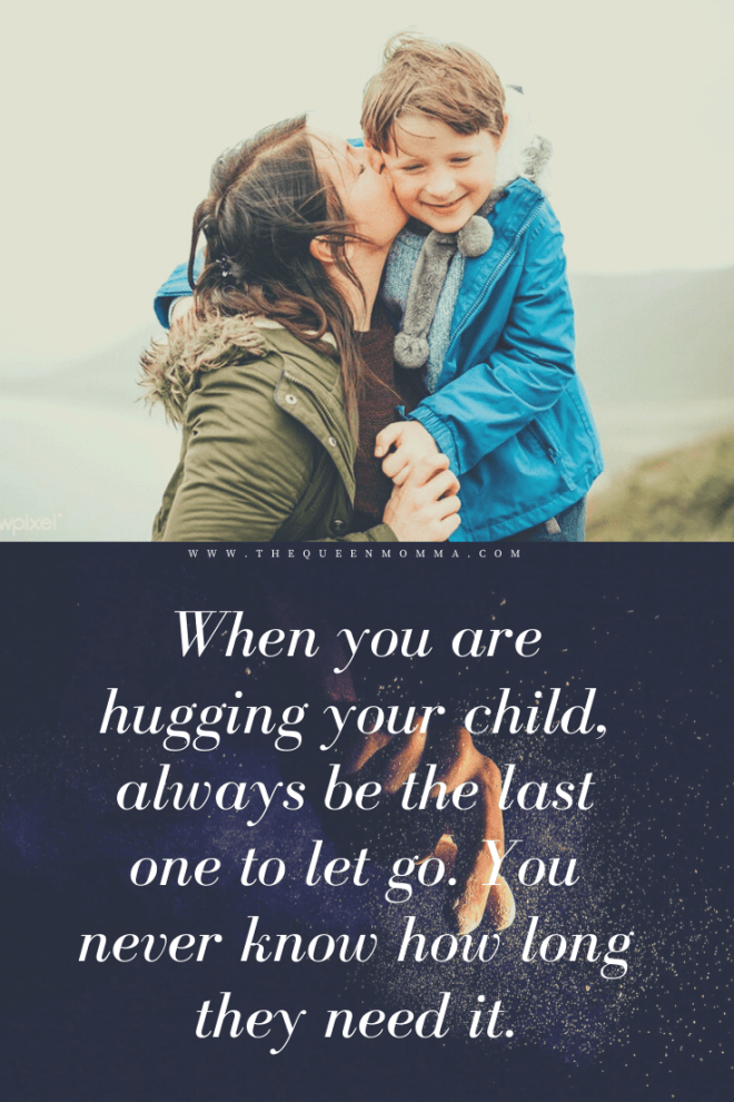 hugging your child quote