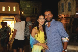 Lovebirds at the Old Town of Rhodes.