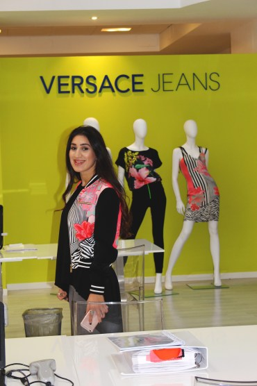 Wearing Versace Jeans SS17 bomber jacket.