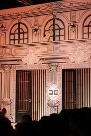 The background for Elisabetta Franchi Fashion Show