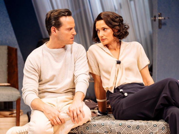 Andrew Scott and Indira Varma. Photo by Manuel Harlan