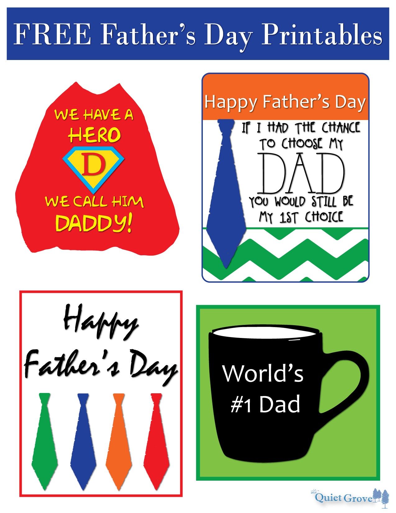 Father S Day Printables The Quiet Grove