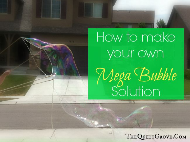 how to make your own mega bubble solution the quiet grove. Black Bedroom Furniture Sets. Home Design Ideas