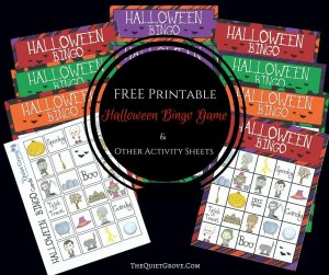 FREE Printable Halloween Bingo Game & Other Activity Sheets
