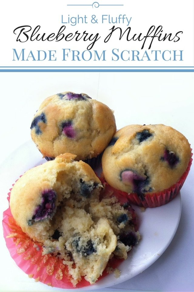 Light & Fluffy Blueberry Muffins: Made From Scratch