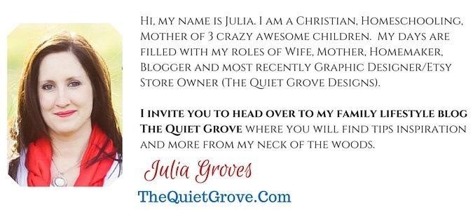 Julia Groves: TheQuietGrove.com