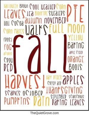 Fall Subway Art (Free Digital Print)