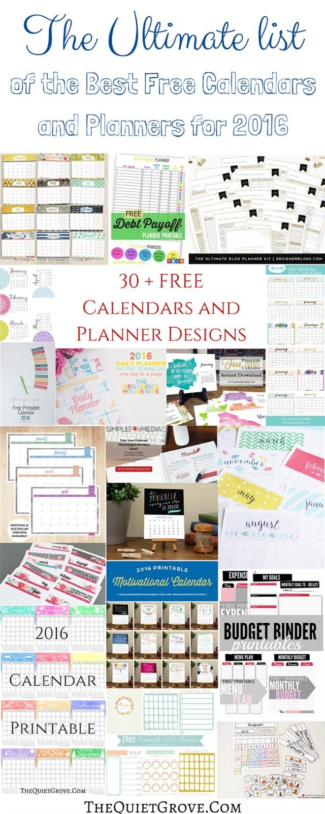 The Ultimate list of the Best Free Calendars and Planners for 2016